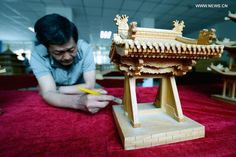 Miniature buildings built to preserve skill of ancient Chinese…