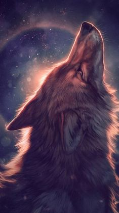 Image about wolf in fantasy by ∞ คภเ๓ค ∞ on We Heart It Anime Wolf, Artwork Lobo, Wolf Artwork, Beautiful Wolves, Animals Beautiful, Cute Animals, Wolf Love, Fantasy Kunst, Fantasy Art