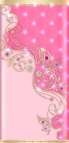fondos de pan tall a. By Artist Unknown. Rose Flower Wallpaper, Diamond Wallpaper, Bling Wallpaper, Flowery Wallpaper, Butterfly Wallpaper, Butterfly Art, Mobile Wallpaper, Pretty Backgrounds, Flower Backgrounds