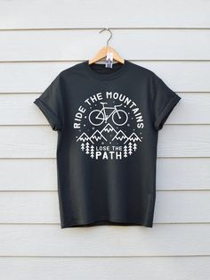 Ride The Mountains Bike T-shirt Premium Bike Tee Available in