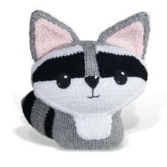 We Like How You Use Our Yarn: Knit Amigurumi Raccoon by Lisa Eberhart. Make it with Vanna's Choice!
