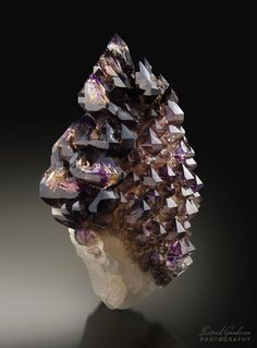 Amethyst from Australiaby Patrick Gundersen (Minerals) Natural Crystals, Stones And Crystals, Natural Gemstones, Gem Stones, Minerals And Gemstones, Rocks And Minerals, Sparkling Diamonds, Amethyst Quartz, Amethyst Crystal