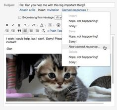 Send canned responses for repetitive emails | 11 Things You Didn't Know Your Gmail Could Do