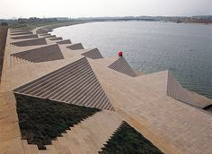 This is a riverbank in China that was  a collaboration between Ai WeiWei, Herzog & Fake design.