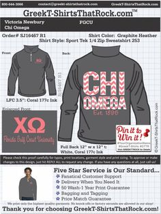 Chi Omega SJ16467proofR1 ...................................................  WORK 1 ON 1 with a member of our design team until your T-Shirt idea is perfect.... and ALWAYS get them on in time (or before you even need them) at the price you want!  ...................................................  Just click this design, it will take you to our website where you can  upload your ideas and get everything started!
