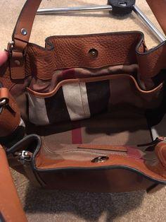 NWT Burberry Small Maidstone Leather Satchel Handbag & Dust bag - Tan -Orig $995 $699.0