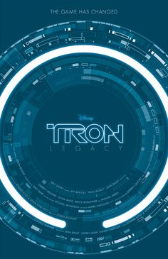 Redesigned Tron movie poster