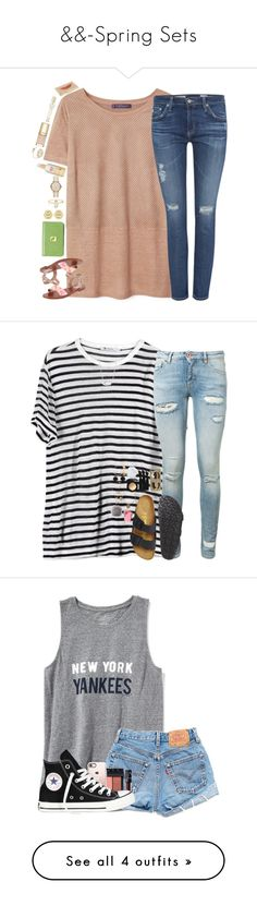 """""""&&-Spring Sets"""" by southern-prep-xo ❤ liked on Polyvore featuring Violeta by Mango, AG Adriano Goldschmied, Steve Madden, Lodis, Tory Burch, MICHAEL Michael Kors, Burt's Bees, Dolce&Gabbana, Victoria's Secret and Kate Spade"""