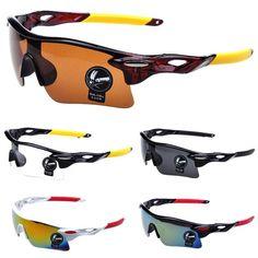 d42256fef4 Hombres al aire libre a prueba de viento UV405 de ciclismo deporte gafas  gafas de sol
