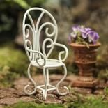 Miniature White Garden Chair- Could make this with  chocolate
