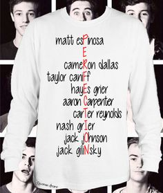 Closing SALE 80% Off Magcon Is Perfection Long Sleeved Tshirt Magcon Boys Names