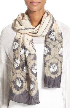 Eileen Fisher 'Kumo' Shibori Silk Scarf available at Shibori Fabric, Shibori Tie Dye, Tie Dyed, Fabric Dyeing Techniques, Tie Dye Fashion, Tie Dye Shirts, Tie Dye Designs, Tie Dye Patterns, How To Dye Fabric