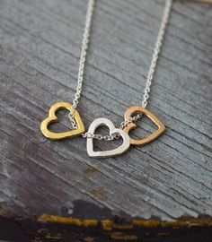 Personalised Mini Heart Necklace http://www.notonthehighstreet.com/poshtotty/product/personalised-valentines-necklace#