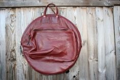 CacSac Gig Bags 24''  'Red-ish Brown' Leather Cymbal Bag Drum Cases, Drums, Leather Backpack, Brown Leather, Bags, Handbags, Leather Backpacks, Percussion, Drum