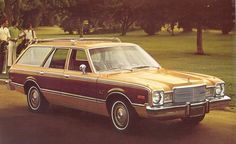 Plymouth Volare Premier wagon, my Mom's was black with wood paneling. I learned to drive using this car.