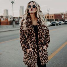 Flower of Summer Leopard Faux Fur Coat for Women Autumn Winter Thick Warm Artificial Fur Women's Coats Casual Fur Jacket Coat Casual Coats For Women, Winter Coats Women, Fall Coats, Women's Coats, Long Faux Fur Coat, Faux Fur Jacket, Parka, Leopard Coat, Warm Coat