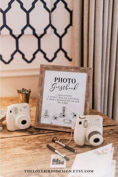 Wedding Book, Wedding Signs, Diy Wedding, Dream Wedding, Polaroid Wedding Guest Book, Vintage Wedding Theme, Wedding Ideas, Wedding Photo Guest Book, Signs For Weddings