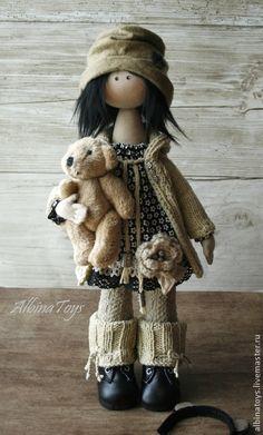 Muñecas hechas a mano de colección.  Masters razonable -. Handmade Monica 2 muñeca Textile .. hecho a mano.