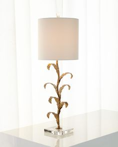 Golden Leaves Buffet Lamp - Neiman Marcus