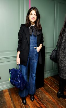 Leandra Medine im Jeans-Overall