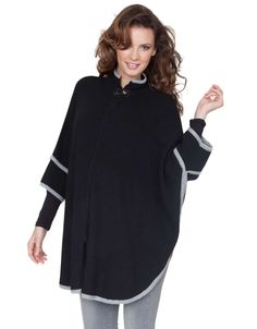 Update your pregnancy wardrobe with this chic knitted cape from @Seraphine Maternity! Find out who else made it to our Top Maternity Winter coats at Mychicbump.com
