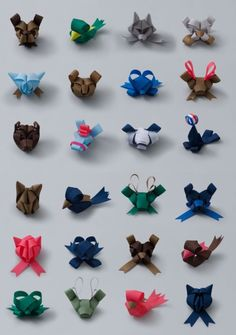 ribbon art  These would be cute hair bows.