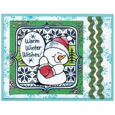 Sweater Snowman Rubber Stamp