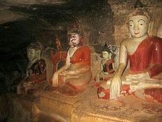 Phowintaung in the west of Monywa is a Buddhist cave complex which contains 947 small and large richly decorated caves. #Phowintaung #Cave #Buddhist #MustVisit #Myanmar