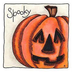 Pumpkin coloring sample