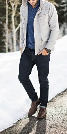 42 Comfy Winter Fashion Outfits for Men in 2015 - Moda Inverno Winter Mode Outfits, Winter Fashion Outfits, Fashion Ideas, Fashion Coat, Men Winter Fashion, Winter Outfit For Men, Mens Style Winter, Winter Jackets For Men, Fashion Fashion