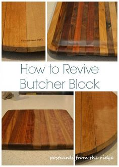 If you use butcher block or wood cutting boards, or have butcher block…