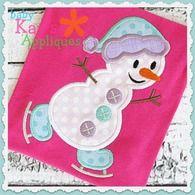 Skating Snowman 4x4, 5x7, 6x10, 8x8