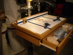 Drill Press Table for Ridgid DP1550 - by pintodeluxe @ LumberJocks.com ~ woodworking community
