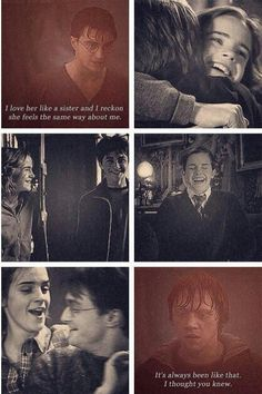 The bond between Harry and Hermione is not romance nor should it ever have been. I love the characters and their relationships just the way they are
