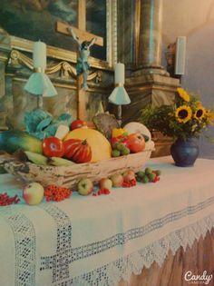 Dożynki,dekoracje kościoła