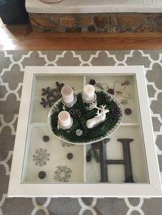 IKEA LIATORP coffee table, living room winter decor