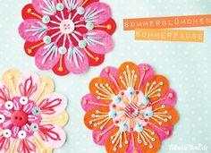 Inspiration - beautiful felt flowers