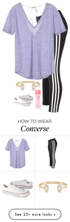 """""""Untitled #2394"""" by laurenatria11 on Polyvore featuring adidas, Victoria's Secret, Kendra Scott and Converse"""