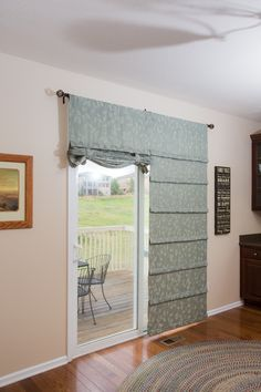 Versatile Sliding Glass Door Curtain Its A Shade And All In One Installs On