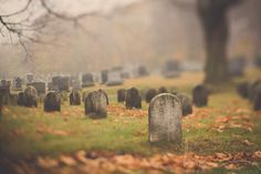 graveyard photograph, headstones, New England cemetery, Halloween art