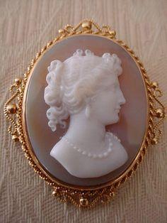 Antique Stunning Pristine Hardstone Carnelian Cameo Brooch Pendant 14k Gold   eBay