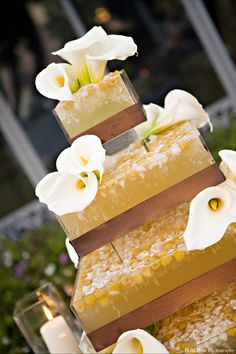 Fun yellow Jello Cake! By @Good Gracious Events