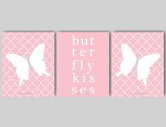 Butterfly Nursery Decor for Girls Room by inkspotsgallery on Etsy
