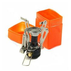 Portable Outdoor Picnic Gas Burner Foldable Camping Mini Steel Stove Case New * More info could be found at the image url. (This is an affiliate link) #CampingStove