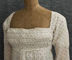 Regency Clothing at Vintage Textile: #7377 Regency cotton dress