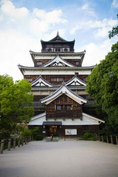 Hiroshima Castle, Japan. Built originally in 1590s, reconstructed in 1958. See https://en.wikipedia.org/wiki/Hiroshima_Castle for more info.