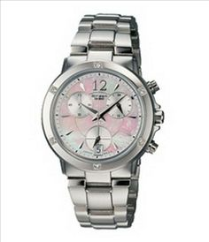 Ladies Sheen SHN-5002SP-7A Chronograph Watch Steel Band