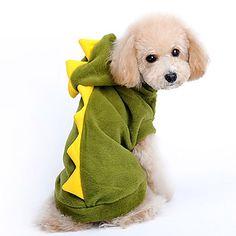 Dinosaur Costume Design Brasão forma bonito com capuz para Animais de estimação Cães (tamanhos variados) - BRL R$ 23,97
