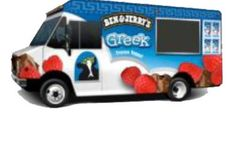 Ben & Jerry's: B truck traveling on East and West Coast giving out free samples to promote new Greek Yogurt Ice Cream http://trucktour.benjerry.com/east/