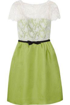 Lace Silk and Organza Dress   Valentino